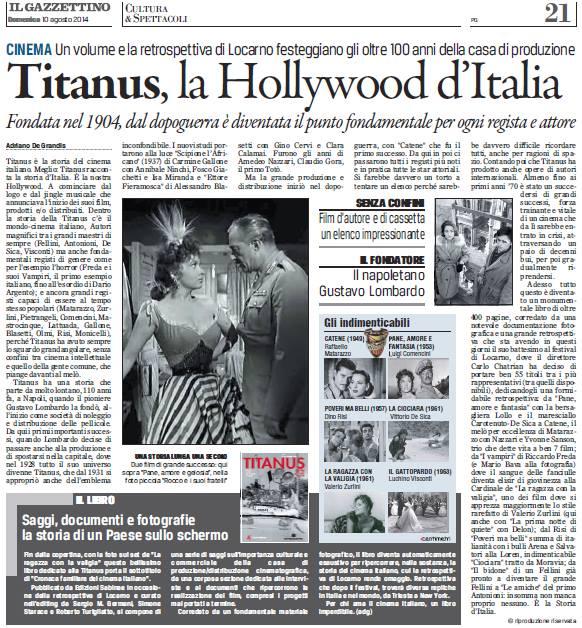 Il Gazzettino 10 agosto 2014