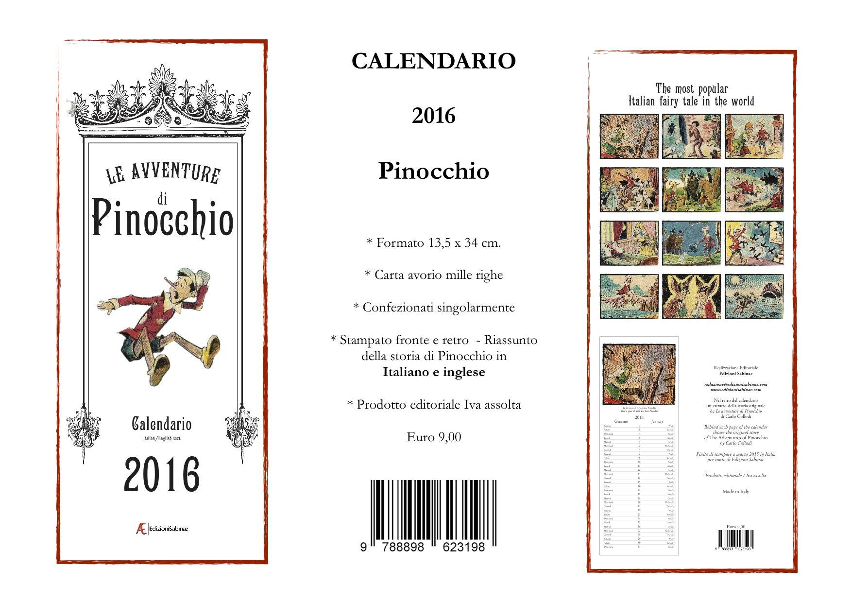 scheda Calendario Pinocchio 2016