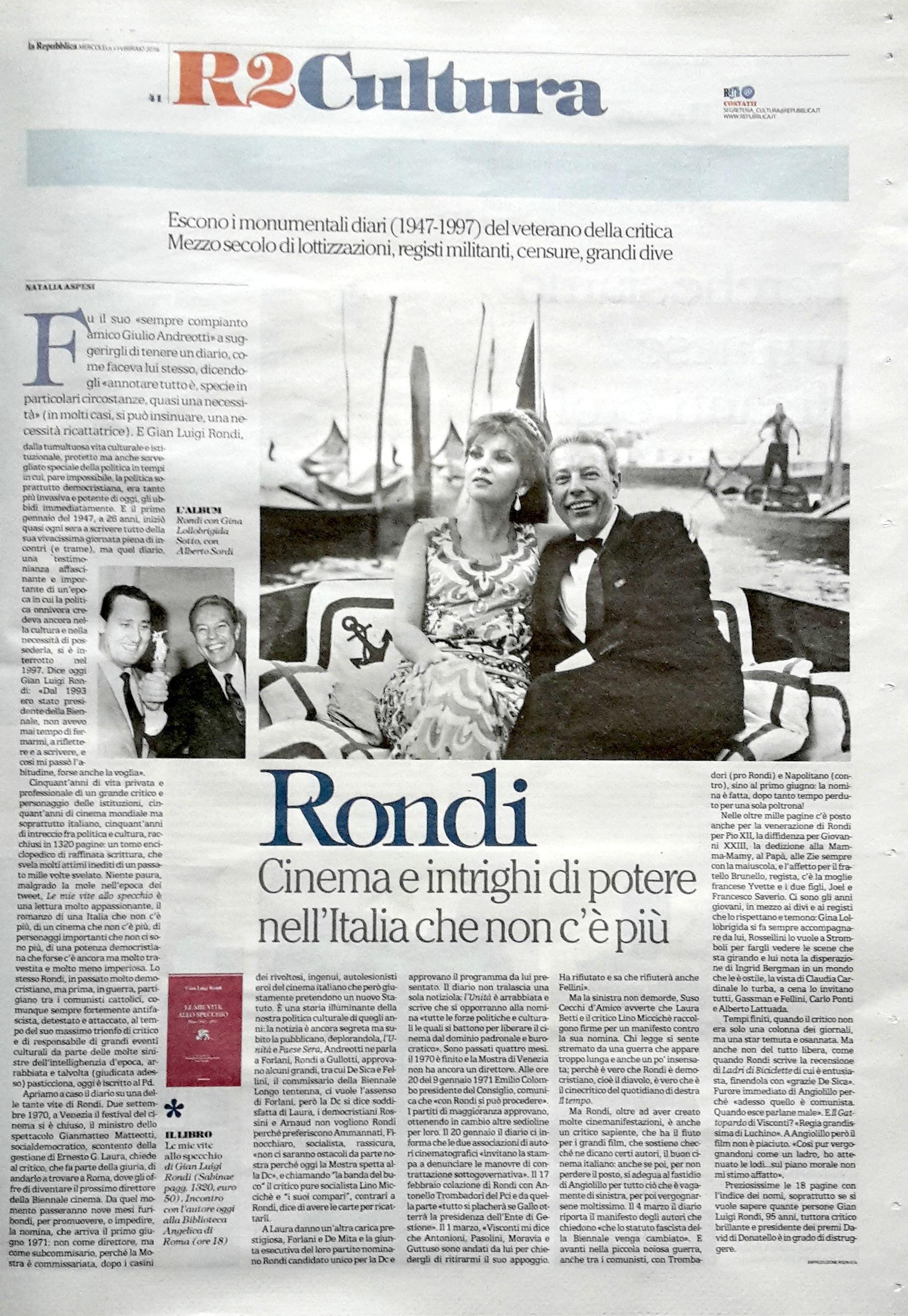 La Repubblica 3 febbraio 2016
