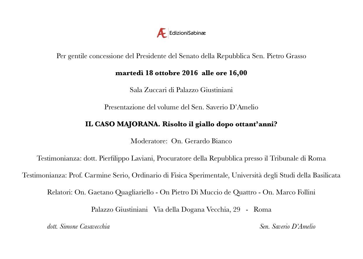 18 ottobre 2016 ore 16 00 palazzo giustiniani senato for Senato della repubblica indirizzo