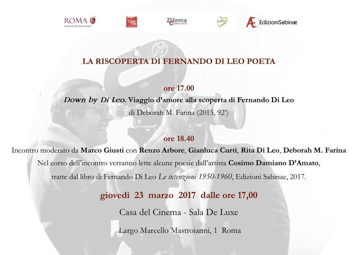 Invito Fernando Di Leo_Casa del cinema_23 marzo 2017